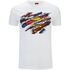 DC Comics Mens Superman Torn Logo T-Shirt - Wit: Image 1