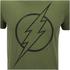 DC Comics Mens The Flash Line Logo T-Shirt - Military Green: Image 5