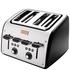 Tefal Maison TT7708UK Stainless Steel 4 Slice Toaster - Chalkboard Black: Image 2