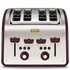 Tefal Maison TT7705UK Stainless Steel 4 Slice Toaster - Pomegranate Red: Image 1