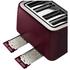 Tefal Maison TT7705UK Stainless Steel 4 Slice Toaster - Pomegranate Red: Image 4