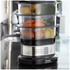 Tefal VC135215 Mini Compact Steamer - Black/Stainless Steel: Image 2