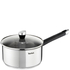Tefal E8232244 Emotion Stainless Steel 16cm Saucepan with Glass Lid: Image 1