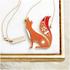 Folklore 'Mr Fox' Enamel Necklace: Image 1
