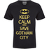 DC Comics Batman Mens Keep Calm T-Shirt - Zwart: Image 1