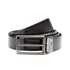 HUGO Men's C-Elvio Gunmetal Reversible Belt - Black/Brown: Image 1