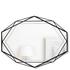 Umbra Prisma Geometric Mirror - Black: Image 1