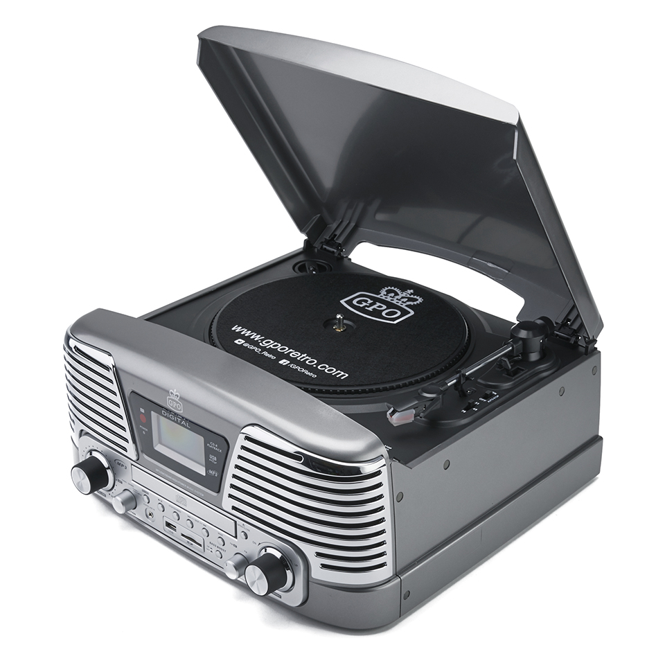 gpo-retro-memphis-turntable-4-in-1-music-system-with-built-in-cd-fm-radio-silver