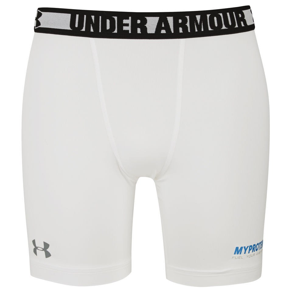 Image of Under Armour® Men's Heatgear Sonic Compression Shorts - White - S - White