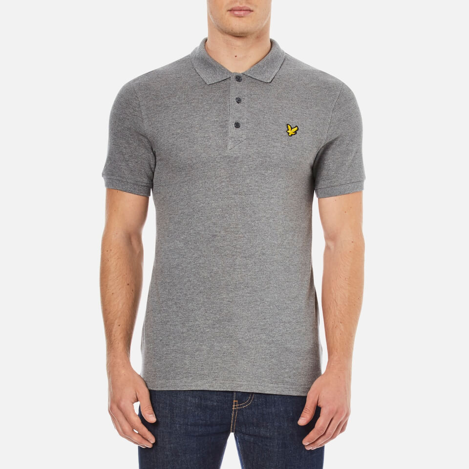 lyle-scott-men-short-sleeve-plain-pique-polo-shirt-mid-grey-marl-xl