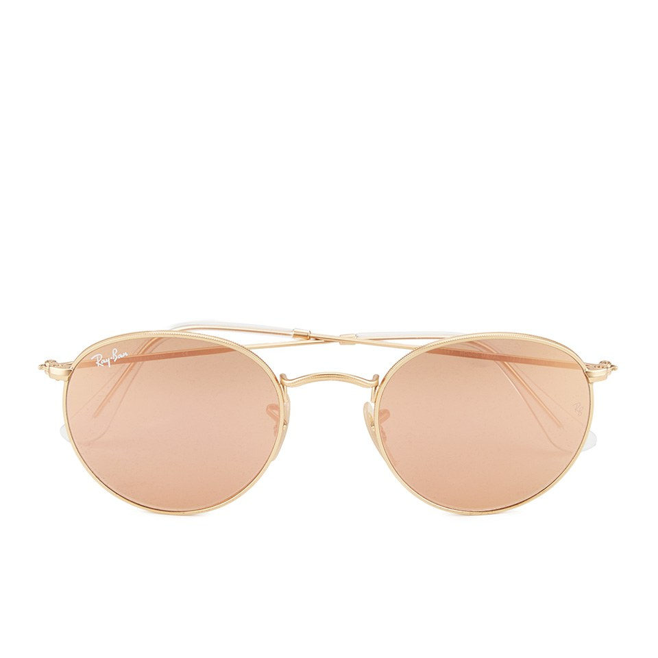 ray-ban-round-metal-sunglasses-matte-goldbrown-mirror-pink-50mm