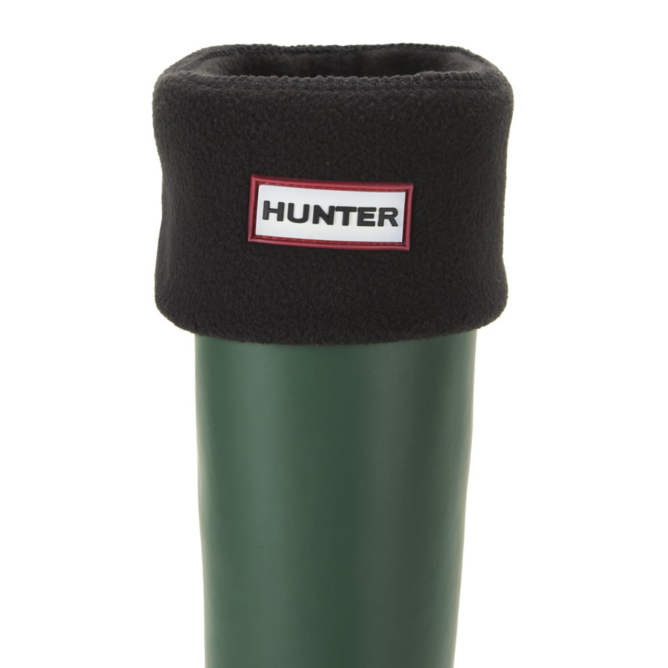 hunter-unisex-tall-fleece-welly-socks-black-m
