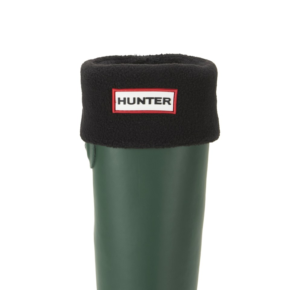 hunter-unisex-short-fleece-welly-socks-black-m
