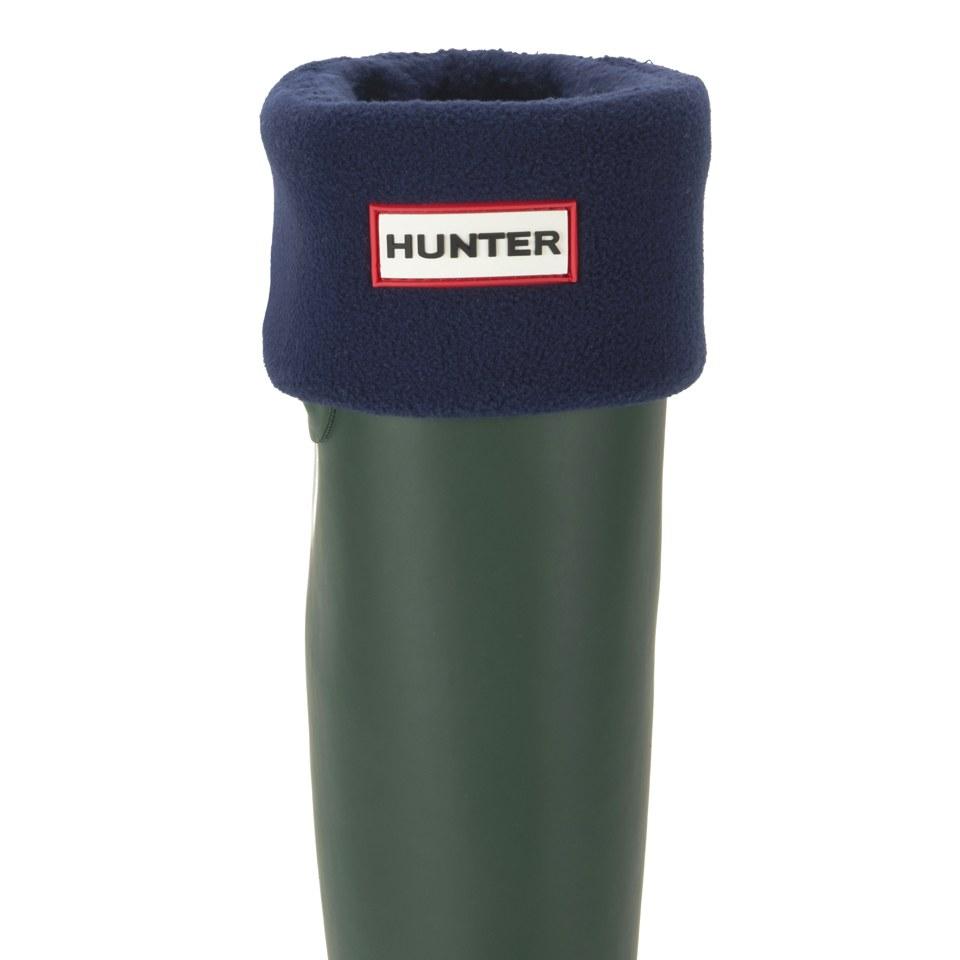 hunter-unisex-tall-fleece-welly-socks-navy-l