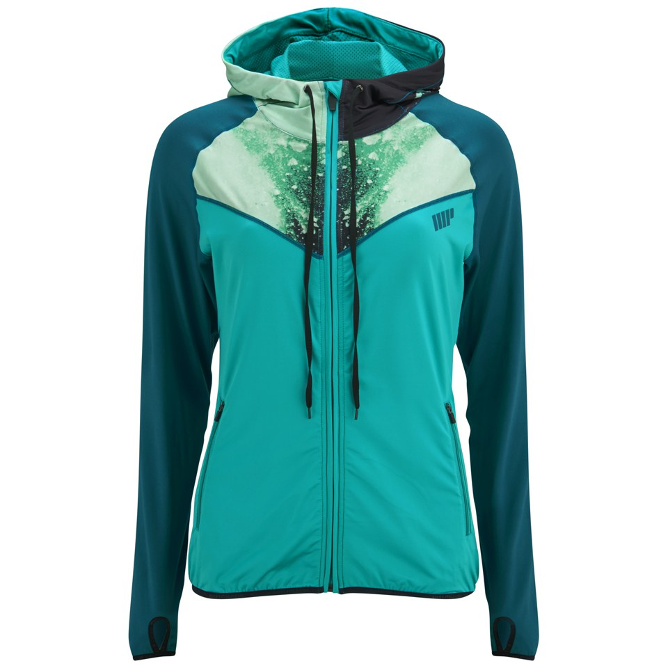 Foto Myprotein Women's Printed Panel Zip Through Hoody - Teal - UK 10