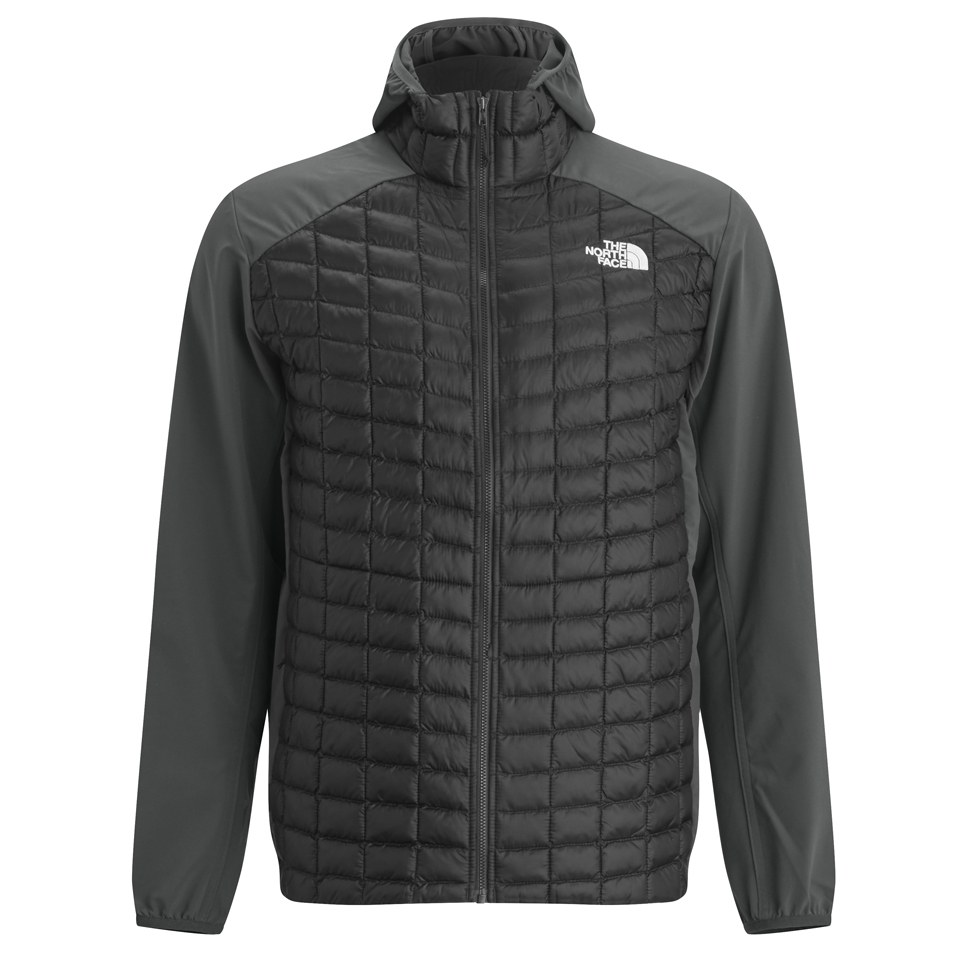 The North Face Mens Thermoball Micro Hybrid Hoody BlackAsphalt Grey Sports amp Leisure