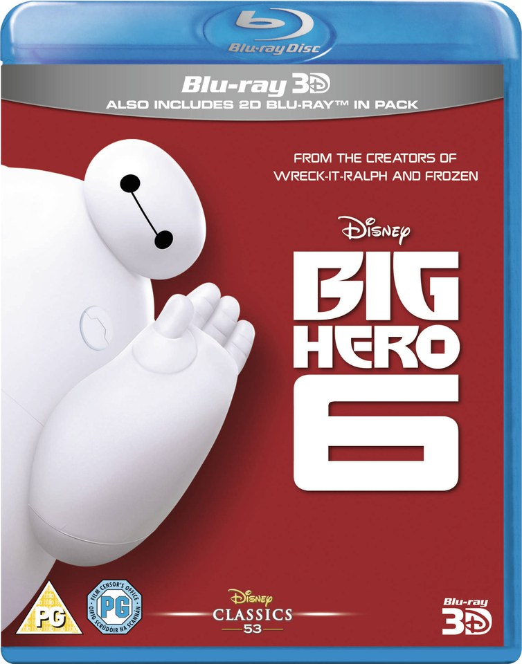 Big Hero 6 (3D Blu-ray + Blu-ray) $15 + Free Shipping