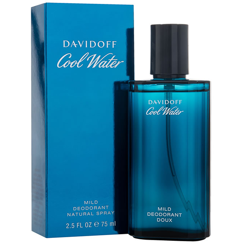 davidoff cool water deodorant 75ml free delivery. Black Bedroom Furniture Sets. Home Design Ideas