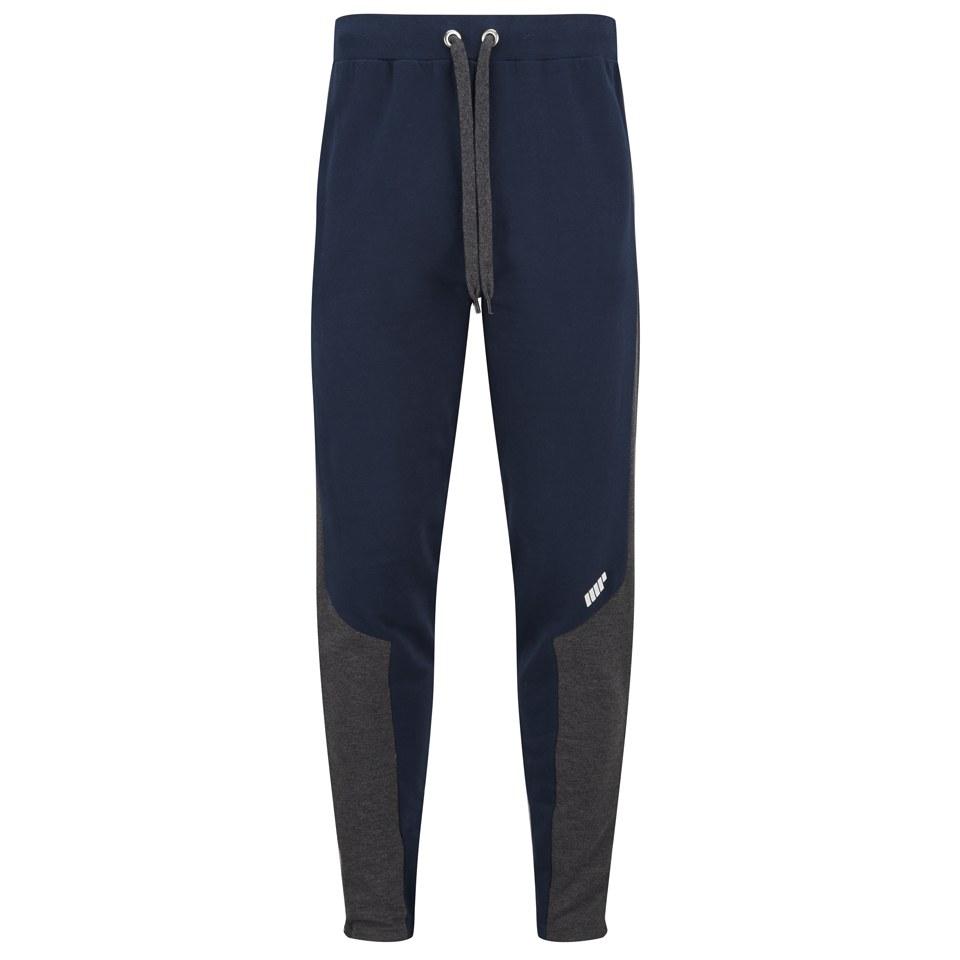 Foto Myprotein Men's Panelled Slimfit Sweatpants with Zip - Navy - XXL