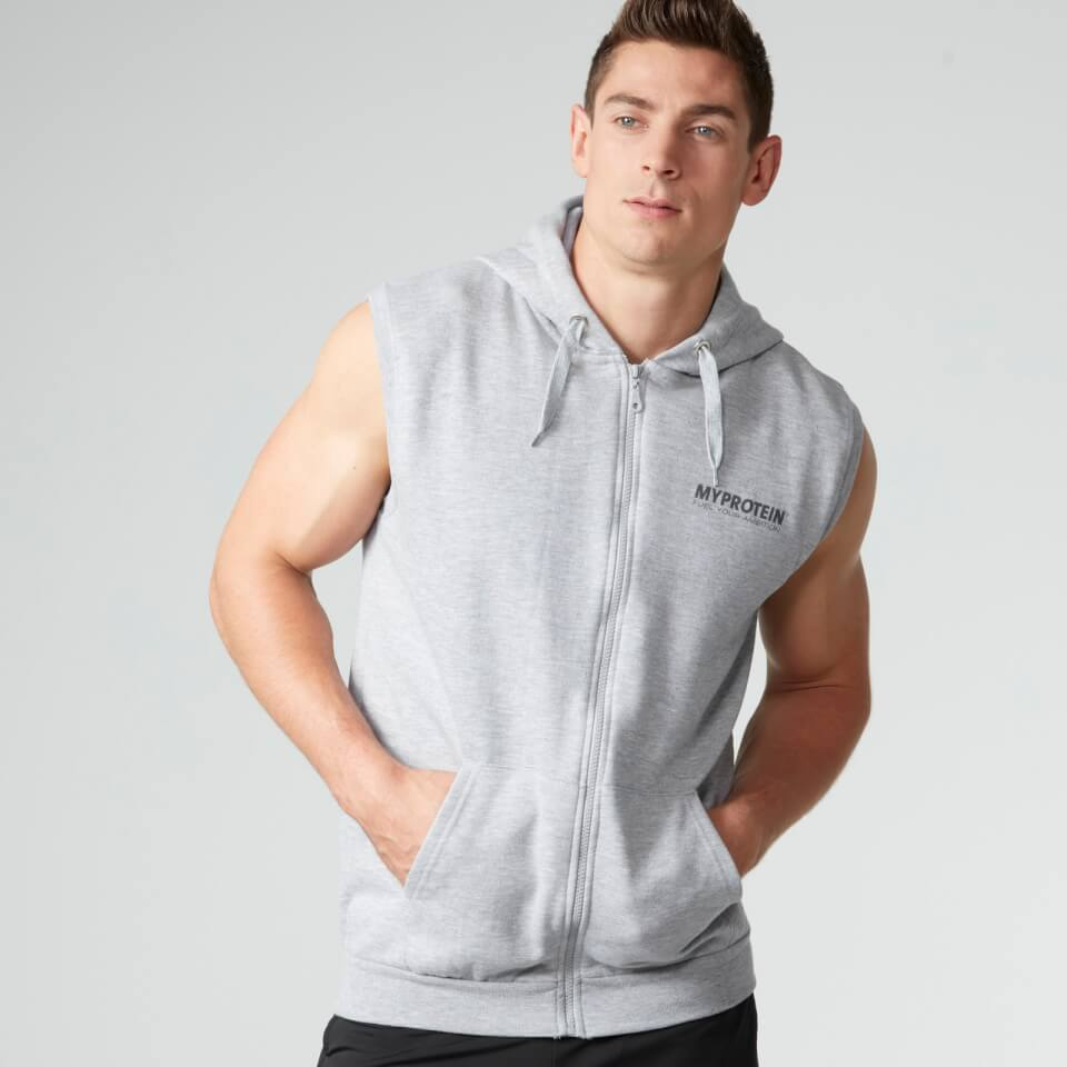 Foto Myprotein Men's Sleeveless Hoody, Grey Marl - XL