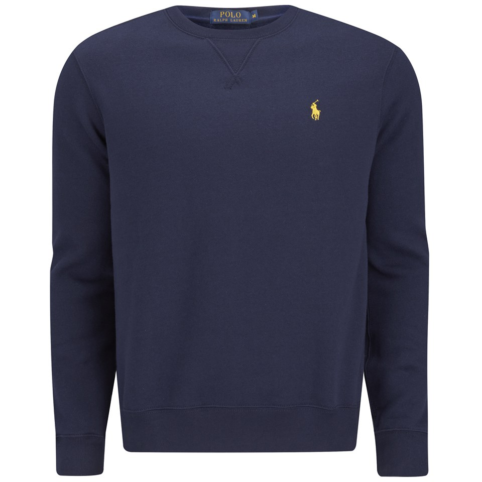 polo ralph lauren men 39 s long sleeve crew neck sweatshirt cruise navy free uk delivery over 50. Black Bedroom Furniture Sets. Home Design Ideas