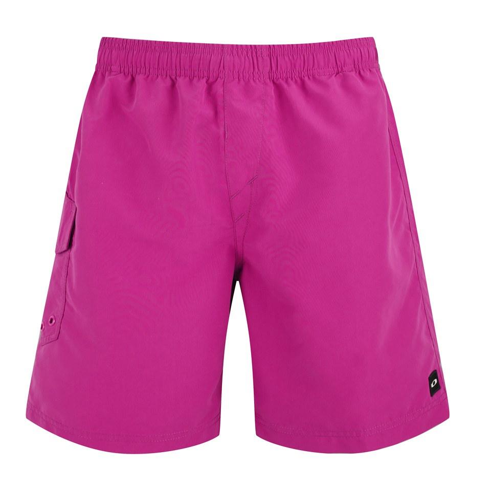 oakley-men-classic-volley-swim-shorts-fuchsia-s