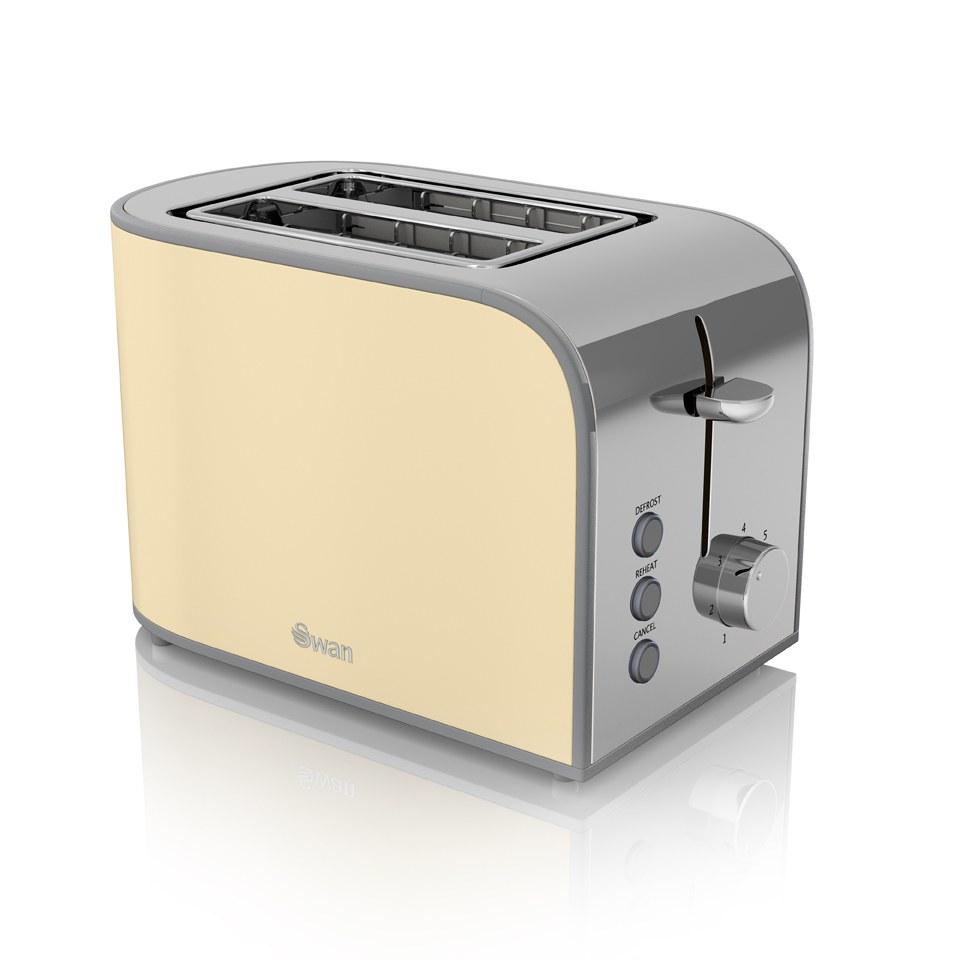 swan-st17020cn-2-slice-toaster-cream
