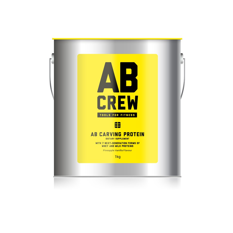 AB CREW Men's AB Carving Protein Artisanal Dietary Supplement – Pineapple Vanilla (1kg)