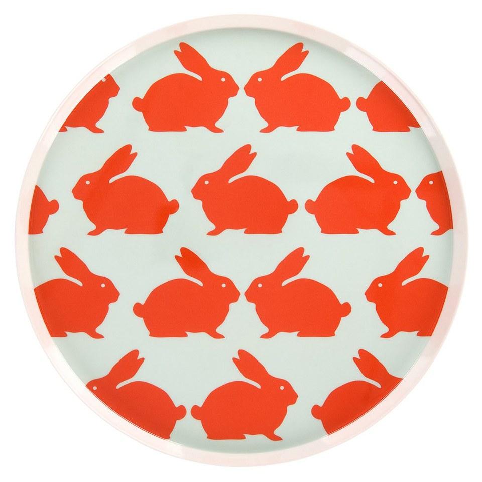 anorak-kissing-rabbits-melamine-tray-orange-blue