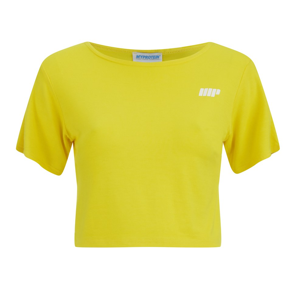 Myprotein Women's Cropped T-Shirt, Yellow, 8