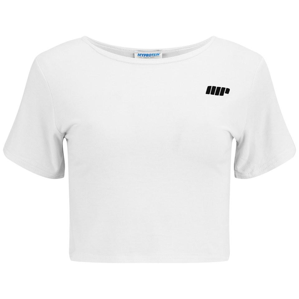 Myprotein Women's Cropped T-Shirt, White, 14