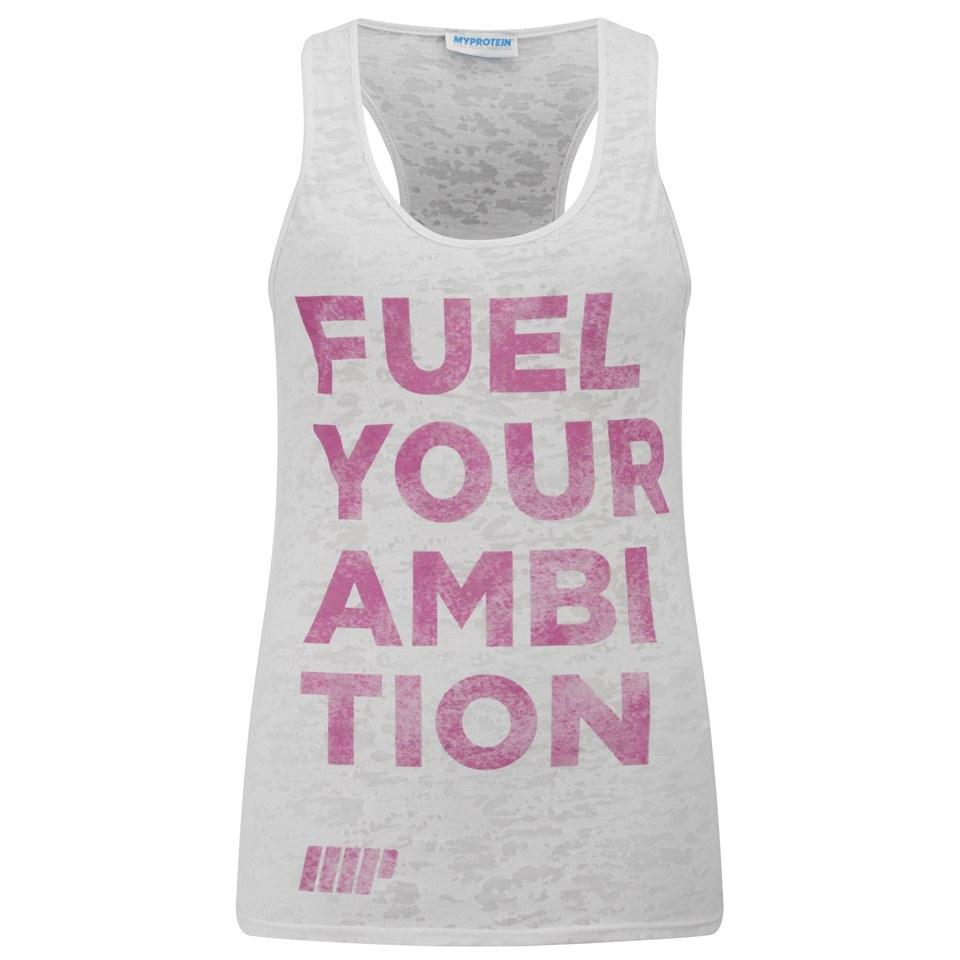 Myprotein Women's Burnout Vest, White, 14
