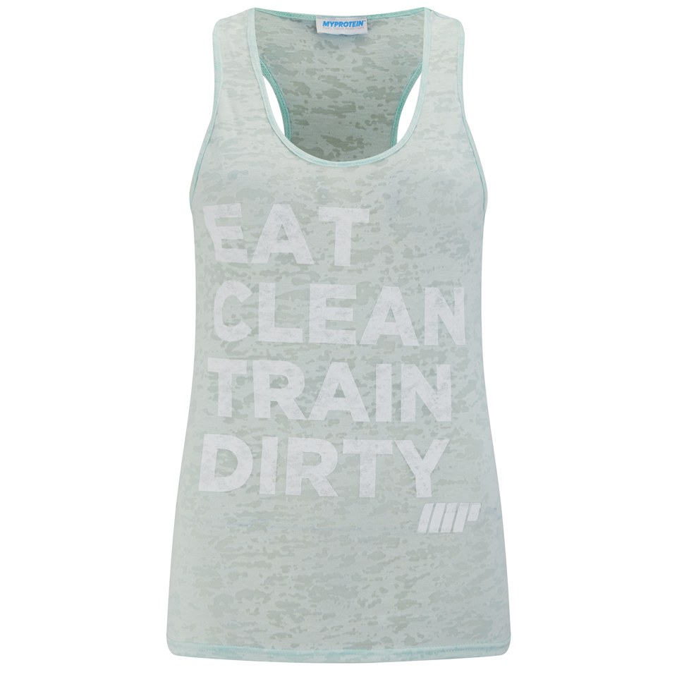 Myprotein Women's Burnout Vest, Pastel Green,