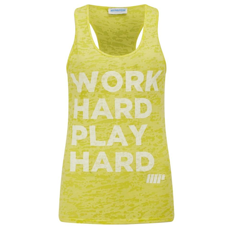 Foto Myprotein Women's Burnout Vest, Yellow, 12