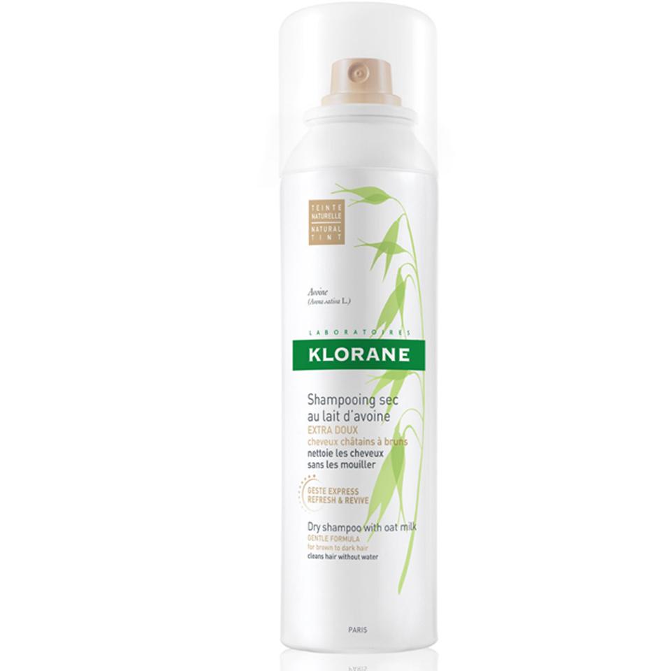 KLORANE Oatmilk Trockenshampoospray für Braunes Haar (150ml)