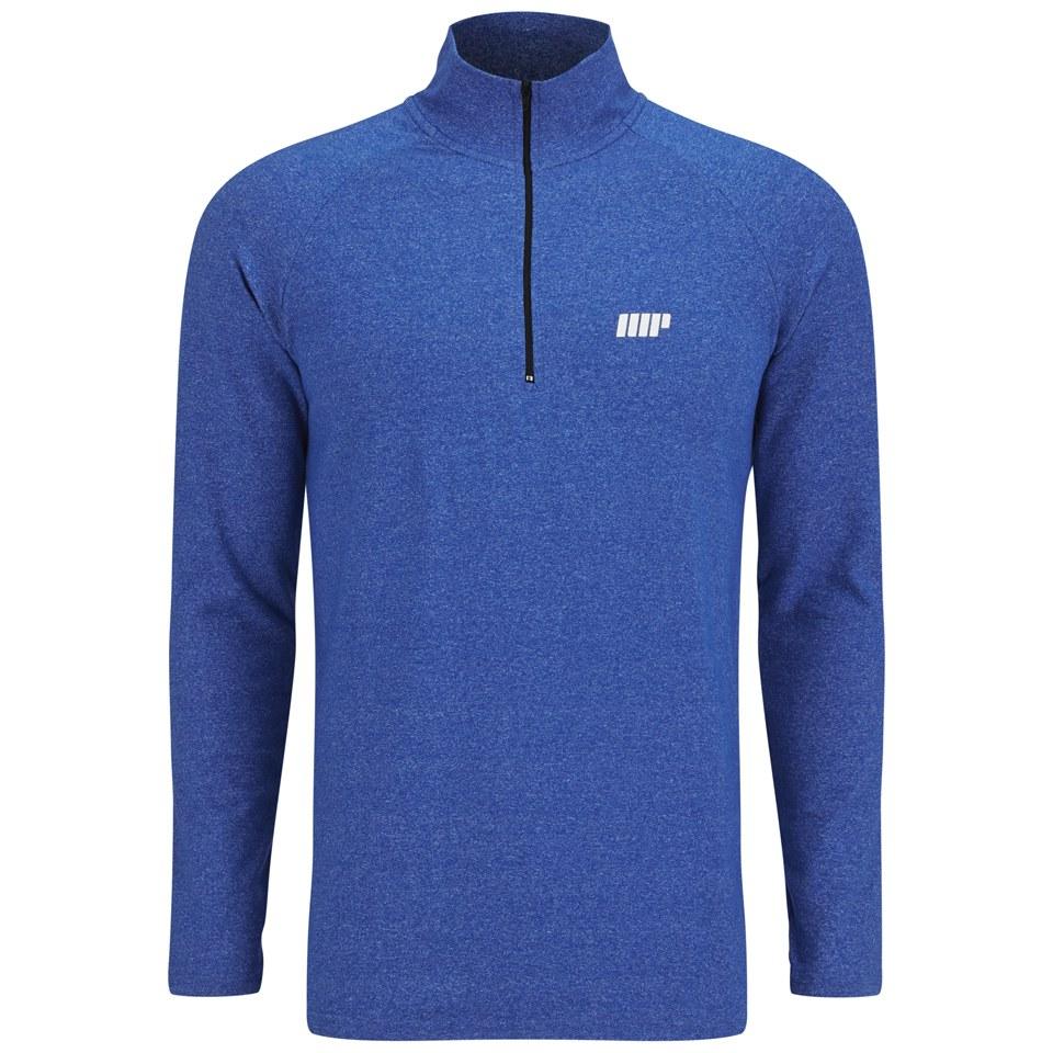Foto Myprotein Men's Performance Long Sleeve 1/4 Zip Top, Blue Marl, L