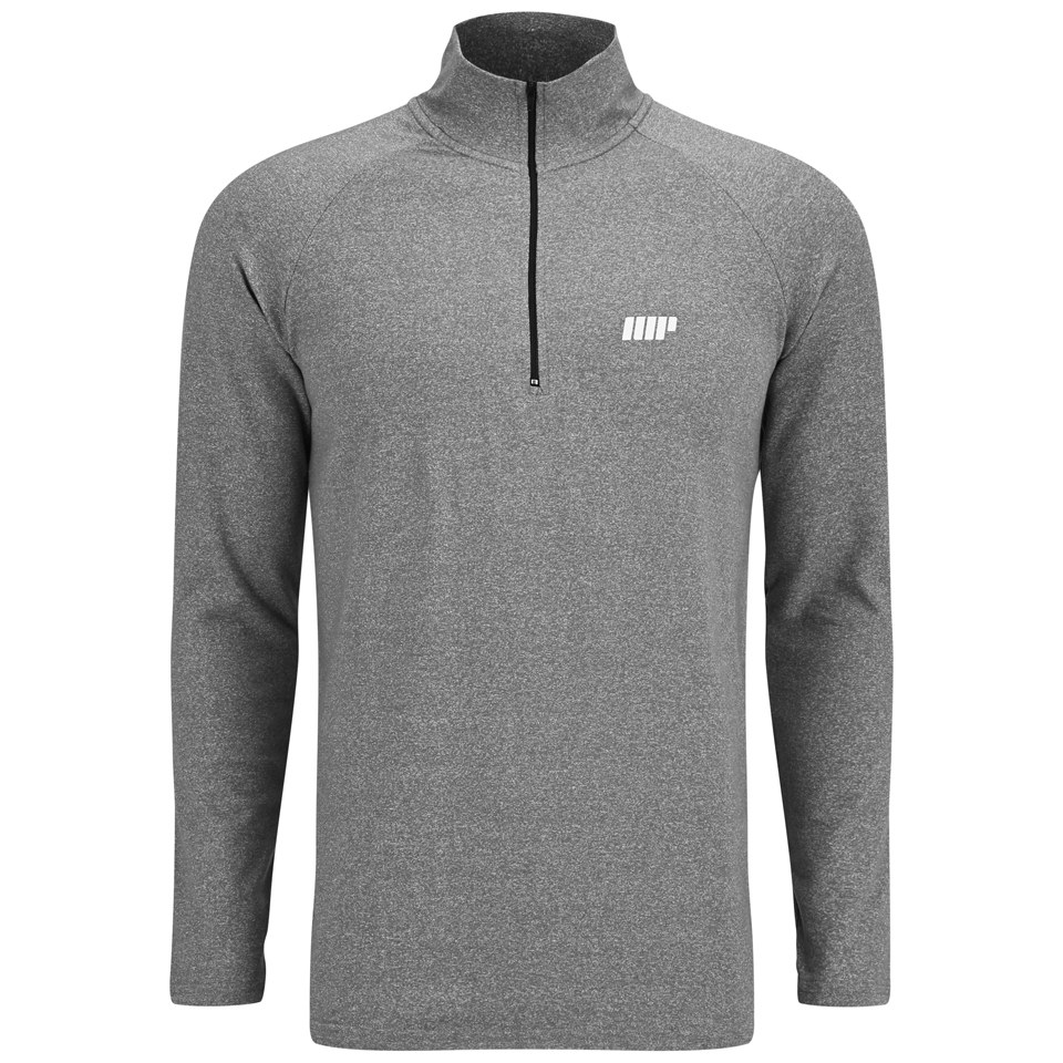 Foto Myprotein Men's Performance Long Sleeve 1/4 Zip Top, Grey Marl, M