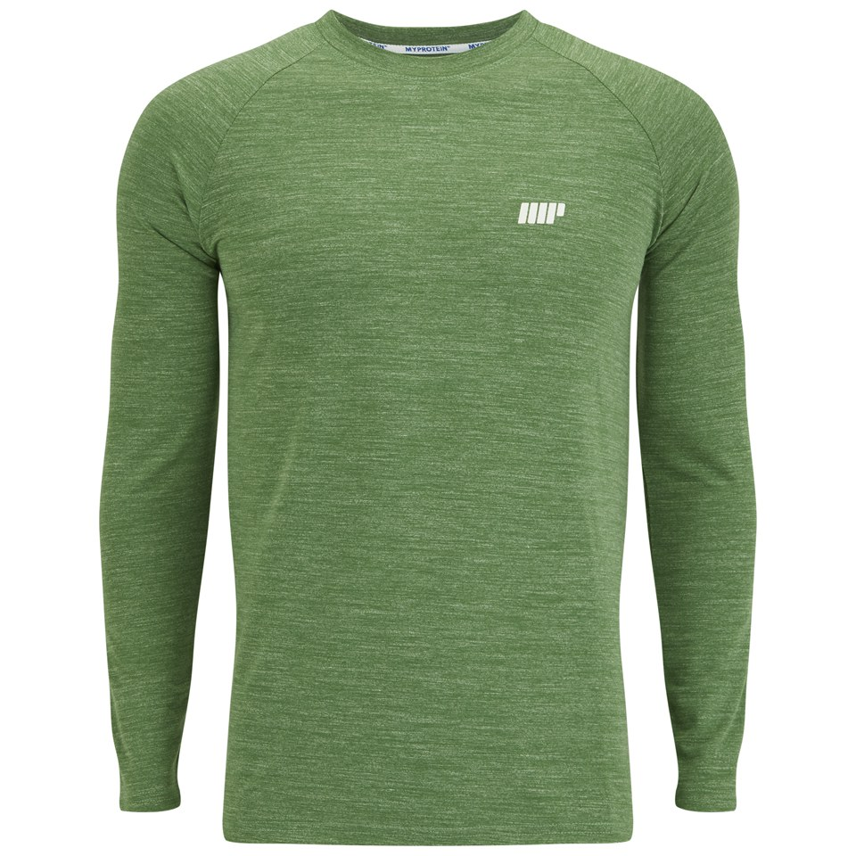 Foto Myprotein Men's Performance Long Sleeve Top, Green Marl, M