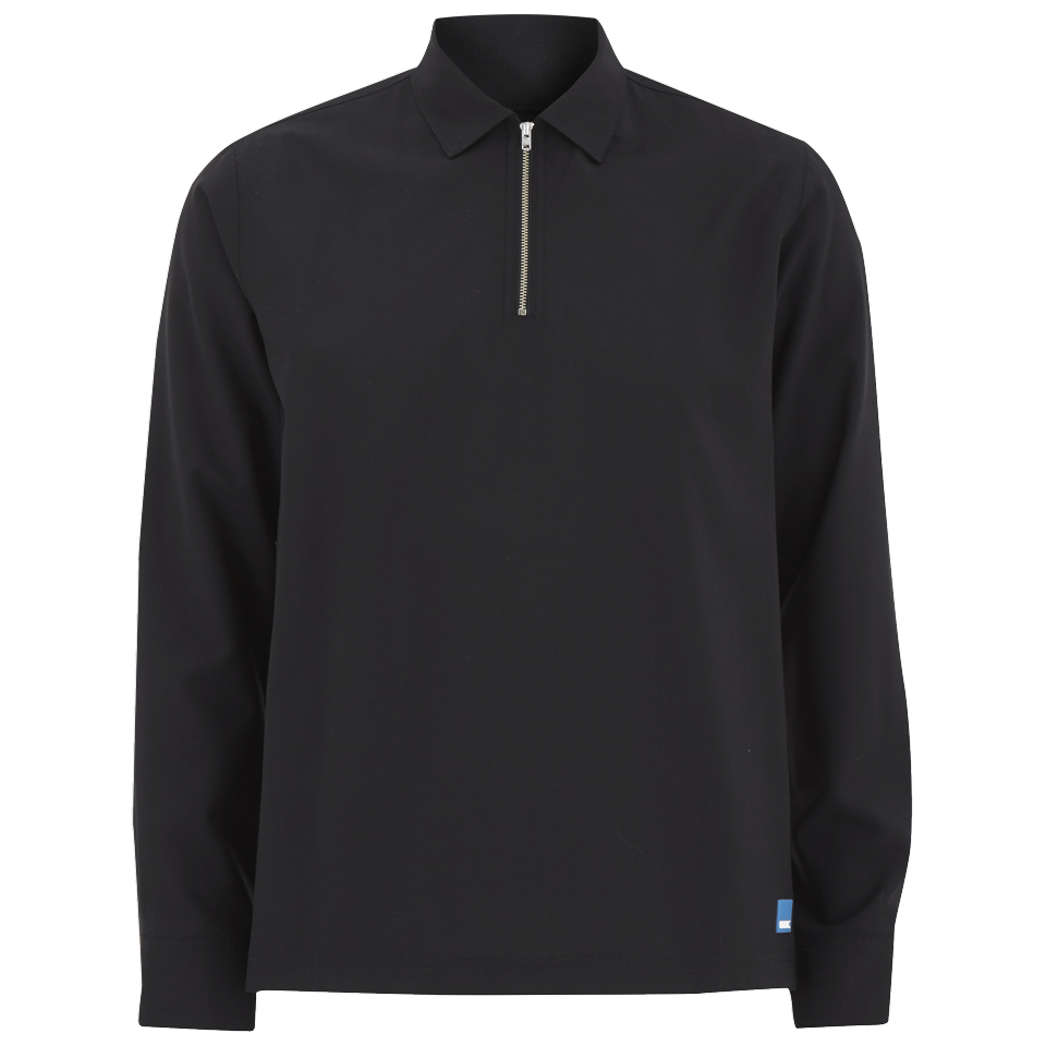 wood-wood-men-phillip-quarter-zip-top-black-l