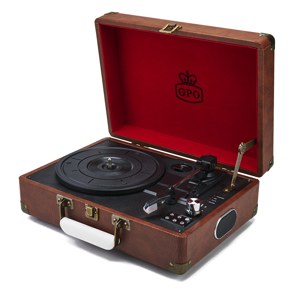 gpo-retro-attache-briefcase-style-three-speed-portable-vinyl-turntable-with-free-usb-stick-built-in-speakers-vintage-brown