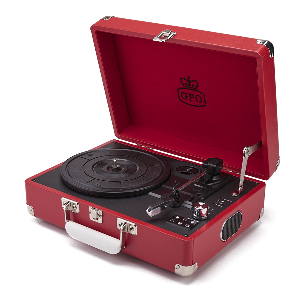 gpo-retro-attache-briefcase-style-three-speed-portable-vinyl-turntable-with-free-usb-stick-built-in-speakers-red