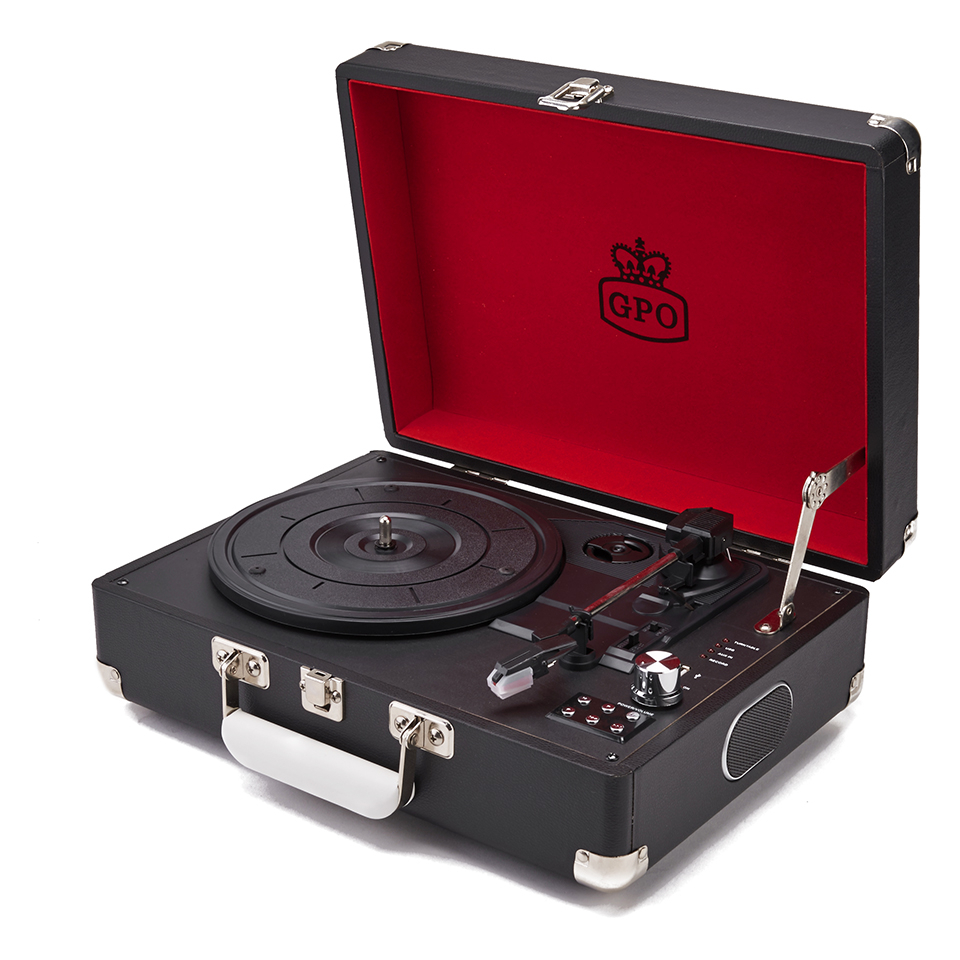 gpo-retro-attache-briefcase-style-three-speed-portable-vinyl-turntable-with-free-usb-stick-built-in-speakers-black
