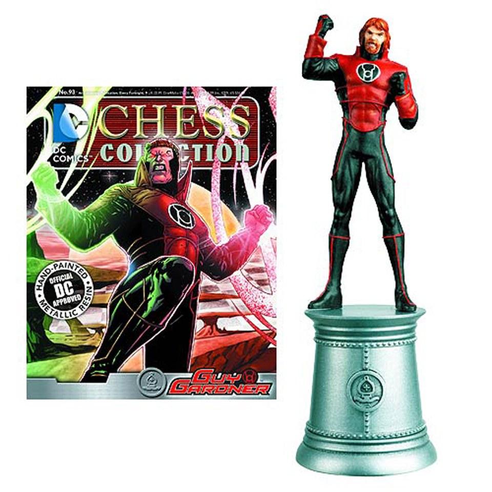 dc-comics-guy-gardner-white-bishop-chess-piece-with-collector-magazine