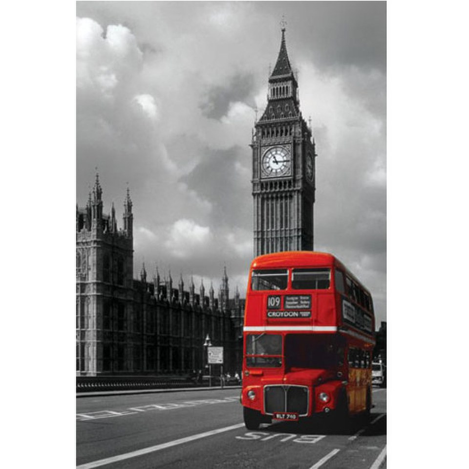london-red-bus-24-x-36-inches-maxi-poster