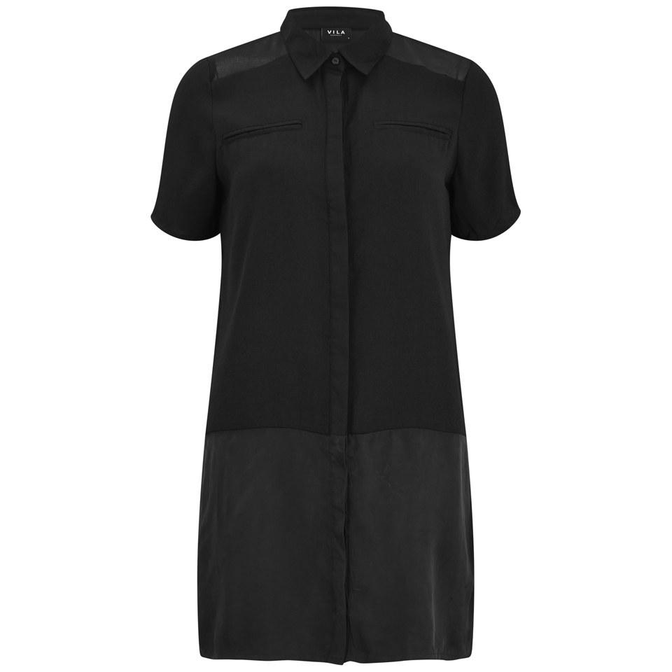vila-women-casta-long-shirt-dress-black-8