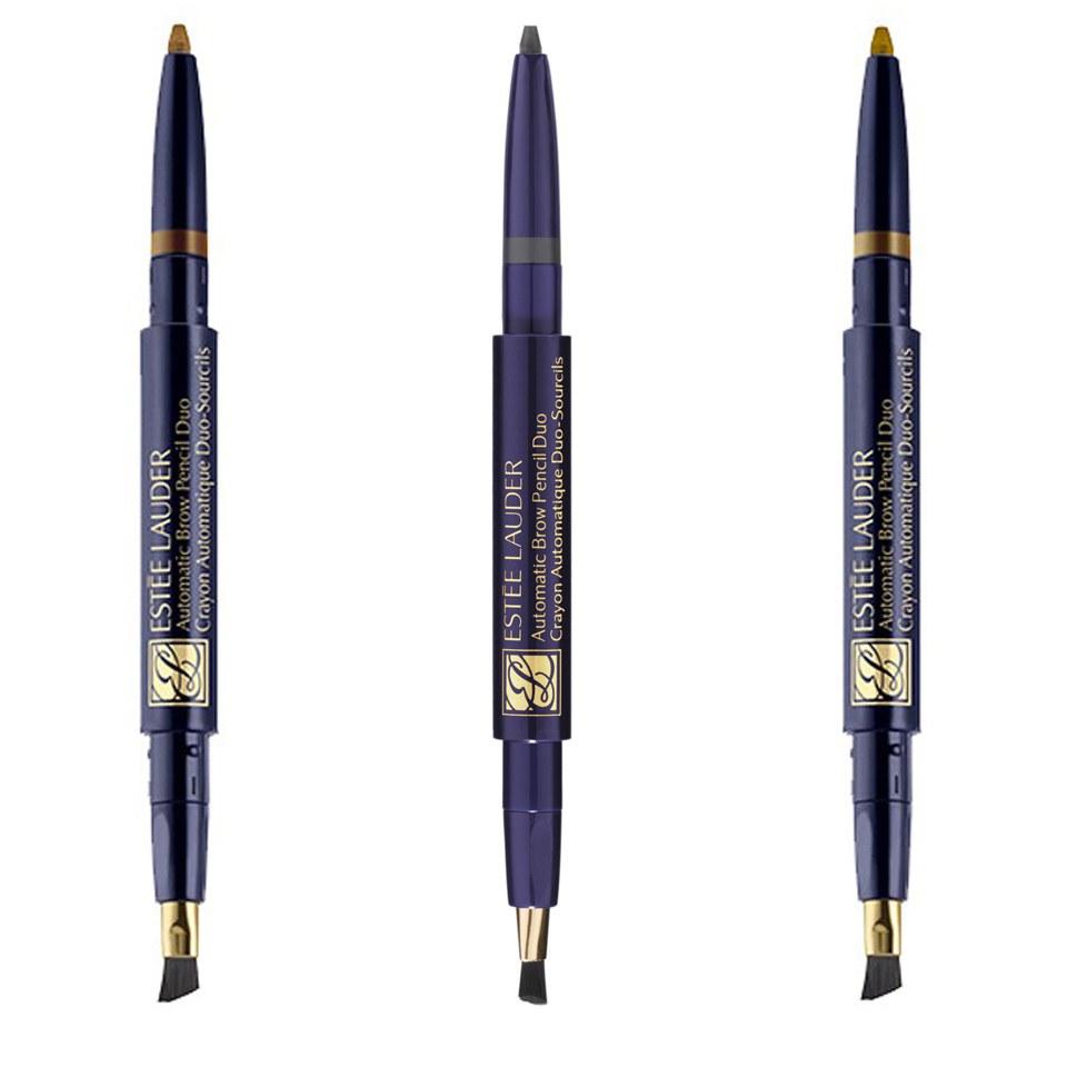 Estée Lauder Makeup Augenmakeup Automatic Brow Pencil Duo Nr. 03 Soft Black 1 Stk.