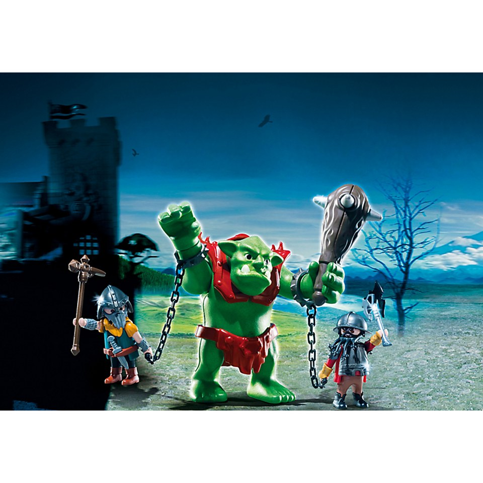playmobil-giant-troll-with-dwarf-fighters-6004
