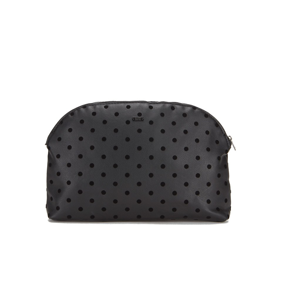 maison-scotch-women-dots-toiletry-bag-black
