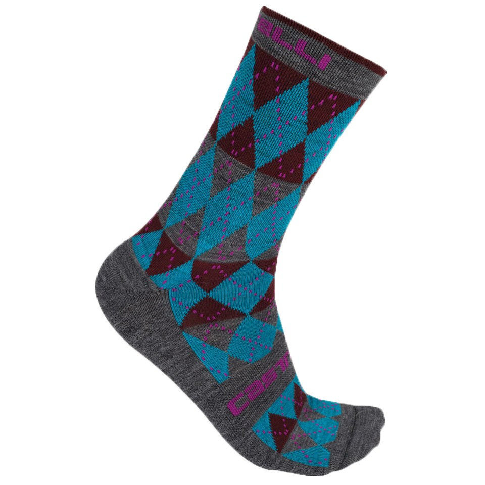 castelli-diverso-socks-blue-red-lxl