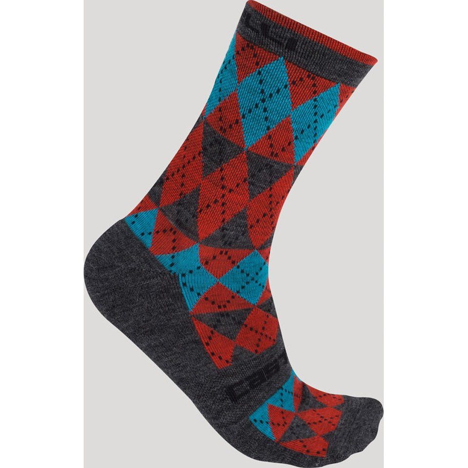 castelli-diverso-socks-red-lxl